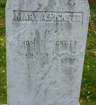 PICKETT, MARY A. - Carroll County, Maryland | MARY A. PICKETT - Maryland Gravestone Photos