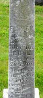 POOL, FANNIE M. - Carroll County, Maryland | FANNIE M. POOL - Maryland Gravestone Photos