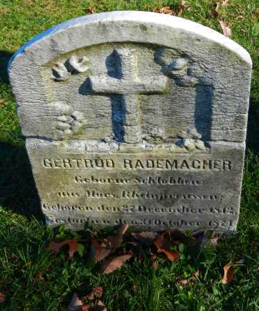 RADEMACHER, GERTRUD - Carroll County, Maryland | GERTRUD RADEMACHER - Maryland Gravestone Photos