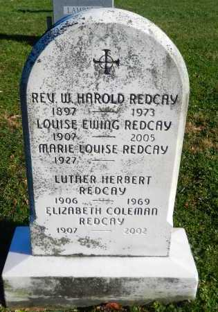 EWING REDCAY, LOUISE - Carroll County, Maryland | LOUISE EWING REDCAY - Maryland Gravestone Photos