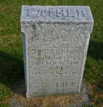 RICHARDS, GEORGE G - Carroll County, Maryland | GEORGE G RICHARDS - Maryland Gravestone Photos