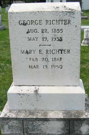 RICHTER, GEORGE - Carroll County, Maryland | GEORGE RICHTER - Maryland Gravestone Photos