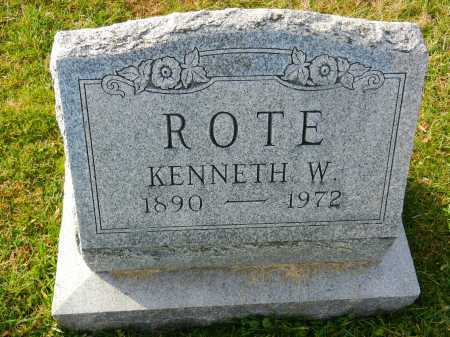 ROTE, KENNETH W. - Carroll County, Maryland | KENNETH W. ROTE - Maryland Gravestone Photos
