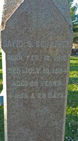 SCHAFFER, DAVID S. - Carroll County, Maryland | DAVID S. SCHAFFER - Maryland Gravestone Photos