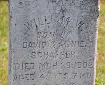SCHAFFER, WILLIAM W. - Carroll County, Maryland | WILLIAM W. SCHAFFER - Maryland Gravestone Photos