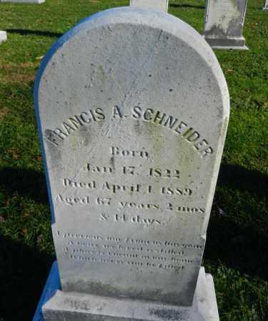 SCHNEIDER, FRANCIS A. - Carroll County, Maryland   FRANCIS A. SCHNEIDER - Maryland Gravestone Photos