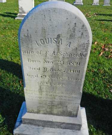 SCHNEIDER, LOUISA A. - Carroll County, Maryland | LOUISA A. SCHNEIDER - Maryland Gravestone Photos