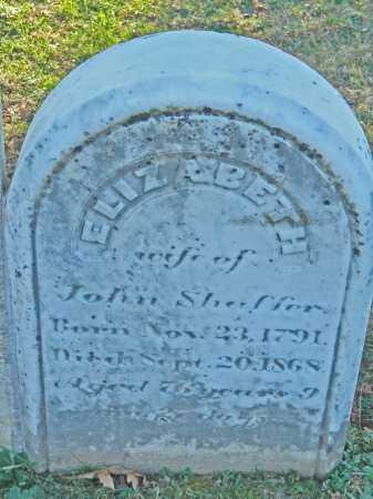 SHAFFER, ELIZABETH - Carroll County, Maryland | ELIZABETH SHAFFER - Maryland Gravestone Photos