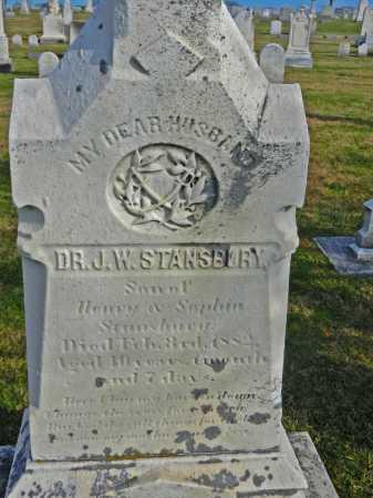 STANSBURY, DR. JOHN WESLEY - Carroll County, Maryland | DR. JOHN WESLEY STANSBURY - Maryland Gravestone Photos