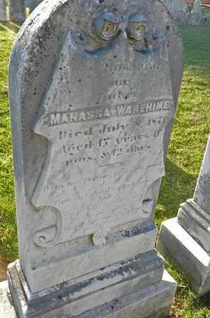 WAREHIME, MANASSA - Carroll County, Maryland | MANASSA WAREHIME - Maryland Gravestone Photos