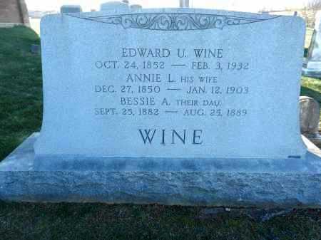 WINE, EDWARD U - Carroll County, Maryland | EDWARD U WINE - Maryland Gravestone Photos