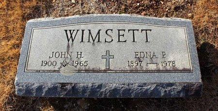 WIMSETT, EDNA P. - Carroll County, Maryland | EDNA P. WIMSETT - Maryland Gravestone Photos