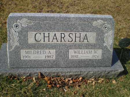 CHARSHA, WILLIAM W. - Cecil County, Maryland | WILLIAM W. CHARSHA - Maryland Gravestone Photos