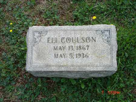 COULSON, JR., ELI - Cecil County, Maryland   ELI COULSON, JR. - Maryland Gravestone Photos