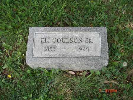 COULSON, SR., ELI - Cecil County, Maryland | ELI COULSON, SR. - Maryland Gravestone Photos