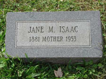ISAAC, JANE M. - Cecil County, Maryland | JANE M. ISAAC - Maryland Gravestone Photos