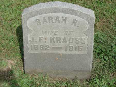 KRAUSS, SARAH R. - Cecil County, Maryland | SARAH R. KRAUSS - Maryland Gravestone Photos