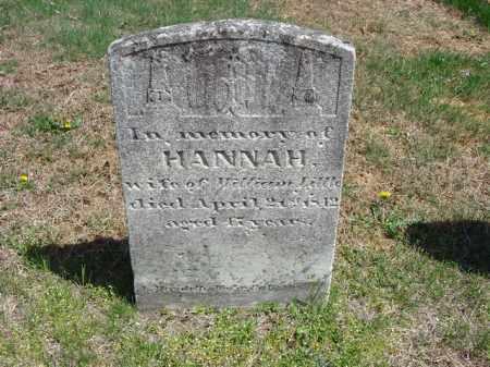LITTLE, HANNAH - Cecil County, Maryland | HANNAH LITTLE - Maryland Gravestone Photos