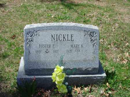 NICKLE, FOSTER E. - Cecil County, Maryland | FOSTER E. NICKLE - Maryland Gravestone Photos