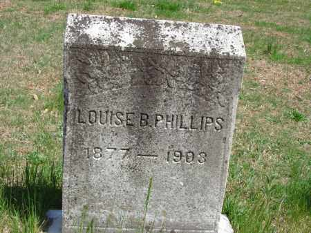PHILLIPS, LOUISE B. - Cecil County, Maryland | LOUISE B. PHILLIPS - Maryland Gravestone Photos