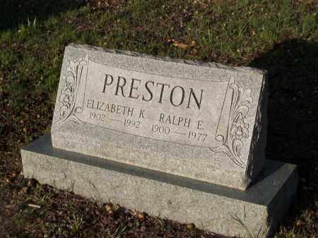 PRESTON, RALPH E. - Cecil County, Maryland | RALPH E. PRESTON - Maryland Gravestone Photos
