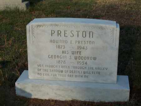 PRESTON, GEORGIA S. WOODROW - Cecil County, Maryland | GEORGIA S. WOODROW PRESTON - Maryland Gravestone Photos