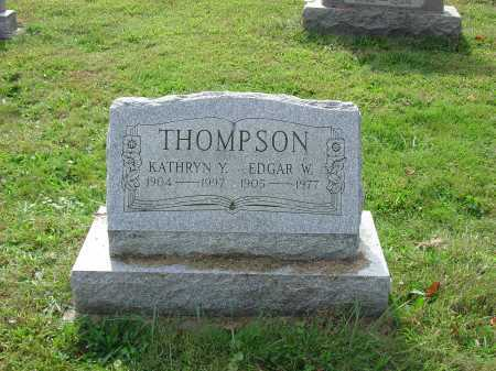 THOMPSON, EDGAR W. - Cecil County, Maryland | EDGAR W. THOMPSON - Maryland Gravestone Photos