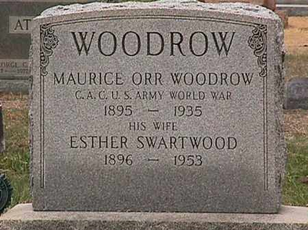 WOODROW, ESTHER SWARTWOOD - Cecil County, Maryland | ESTHER SWARTWOOD WOODROW - Maryland Gravestone Photos