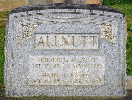 ALLNUTT, EDWARD L. - Frederick County, Maryland | EDWARD L. ALLNUTT - Maryland Gravestone Photos
