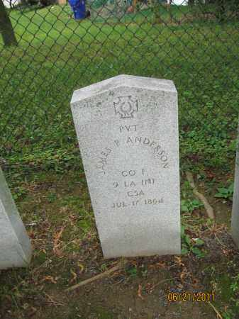 ANDERSON (CW), JAMES P. - Frederick County, Maryland | JAMES P. ANDERSON (CW) - Maryland Gravestone Photos