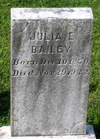 BAILEY, JULIA E. - Frederick County, Maryland | JULIA E. BAILEY - Maryland Gravestone Photos
