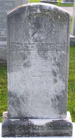 BARNES, FRANCIS W. - Frederick County, Maryland | FRANCIS W. BARNES - Maryland Gravestone Photos
