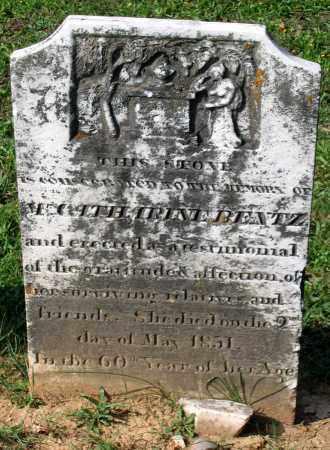 BENTZ, CATHARINE - Frederick County, Maryland | CATHARINE BENTZ - Maryland Gravestone Photos