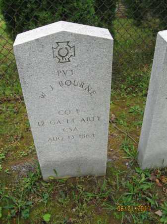 BOURNE (CW), W. J. - Frederick County, Maryland   W. J. BOURNE (CW) - Maryland Gravestone Photos