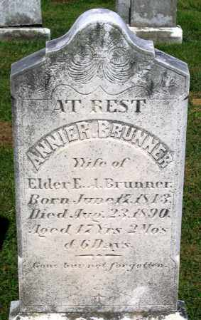 BRUNNER, ANNIE R. - Frederick County, Maryland | ANNIE R. BRUNNER - Maryland Gravestone Photos