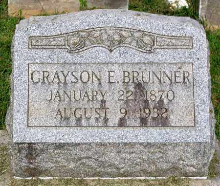 BRUNNER, GRAYSON E. - Frederick County, Maryland | GRAYSON E. BRUNNER - Maryland Gravestone Photos