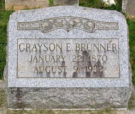 BRUNNER, GRAYSON E. - Frederick County, Maryland | GRAYSON E. BRUNNER - Maryland Gravestone Photos