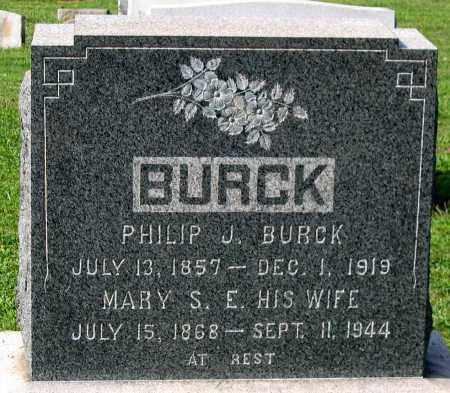 BURCK, MARY S. E. - Frederick County, Maryland | MARY S. E. BURCK - Maryland Gravestone Photos