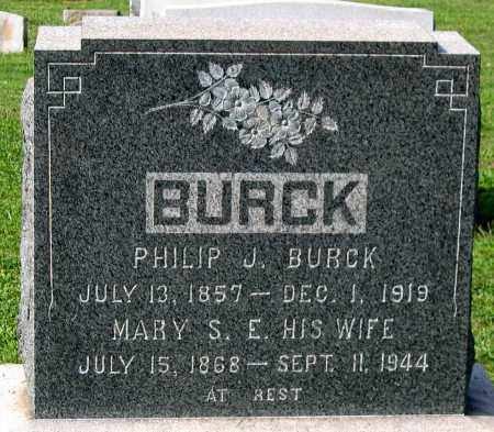 BURCK, MARY S. E. - Frederick County, Maryland | MARY S. E. BURCK - Maryland Gravestone Photos