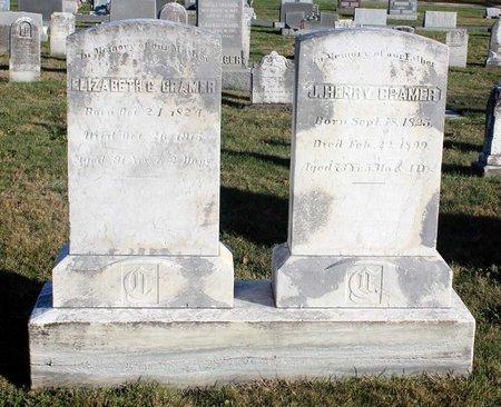 CRAMER, JAMES HENRY - Frederick County, Maryland | JAMES HENRY CRAMER - Maryland Gravestone Photos