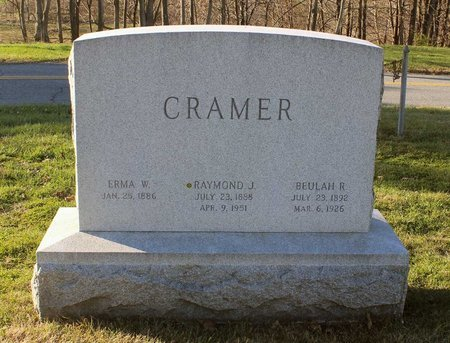 CRAMER, ERMA REBECCA - Frederick County, Maryland | ERMA REBECCA CRAMER - Maryland Gravestone Photos