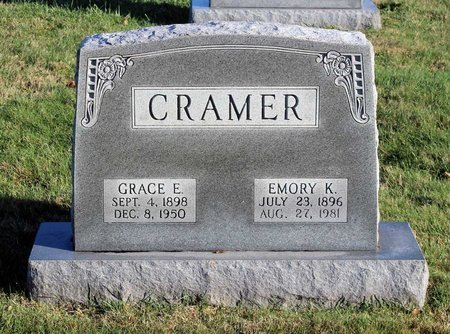 CRAMER, EMORY K. - Frederick County, Maryland | EMORY K. CRAMER - Maryland Gravestone Photos