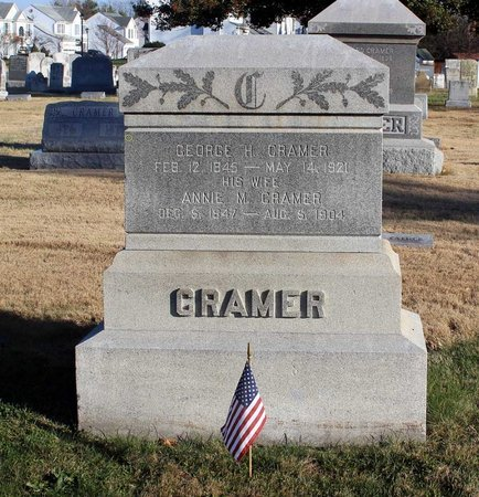 CRAMER, GEORGE H. - Frederick County, Maryland | GEORGE H. CRAMER - Maryland Gravestone Photos