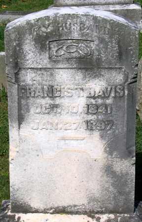 DAVIS, FRANCIS T. - Frederick County, Maryland | FRANCIS T. DAVIS - Maryland Gravestone Photos