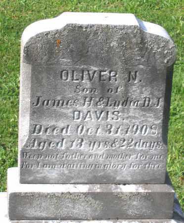 DAVIS, OLIVER N. - Frederick County, Maryland | OLIVER N. DAVIS - Maryland Gravestone Photos