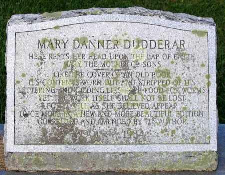 DANNER DUDDERAR, MARY - Frederick County, Maryland | MARY DANNER DUDDERAR - Maryland Gravestone Photos