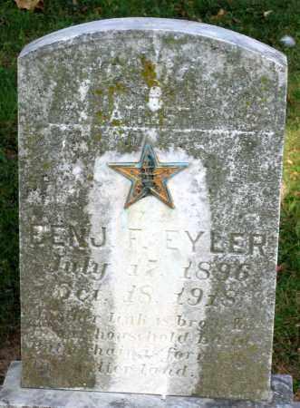 EYLER, BENJAMIN F. - Frederick County, Maryland | BENJAMIN F. EYLER - Maryland Gravestone Photos