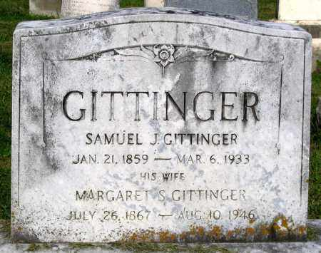 GITTINGER, SAMUEL J. - Frederick County, Maryland | SAMUEL J. GITTINGER - Maryland Gravestone Photos