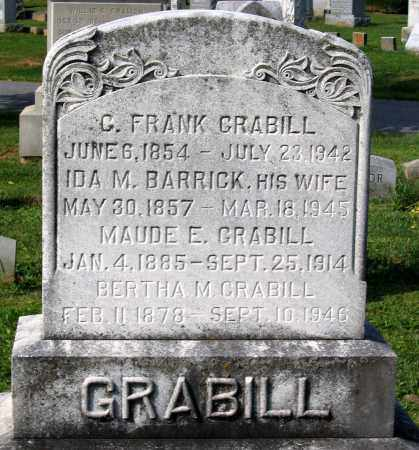 GRABILL, BERTHA M. - Frederick County, Maryland | BERTHA M. GRABILL - Maryland Gravestone Photos