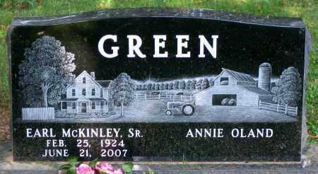 GREEN, EARL MCKINLEY SR. - Frederick County, Maryland   EARL MCKINLEY SR. GREEN - Maryland Gravestone Photos